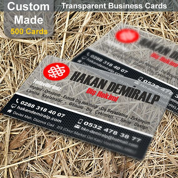 Transparent Business Cards  500 Custom Made by PrintingCraft