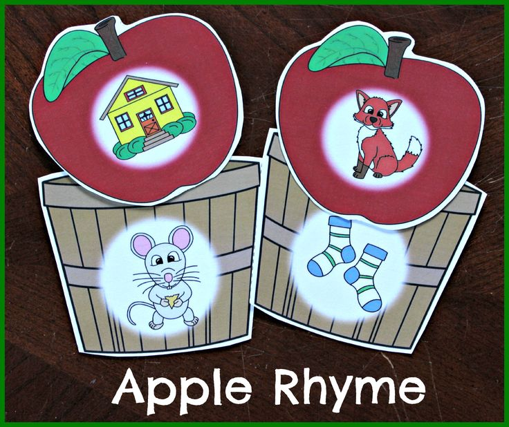 Apple Rhyme and more apple themed early literacy and numeracy activities!