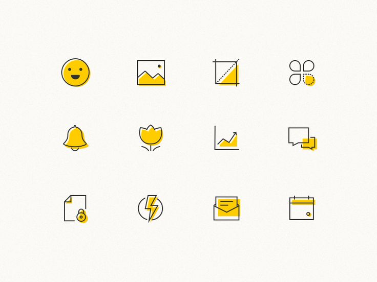 some outline icons