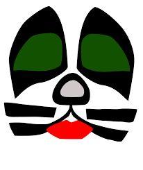Kiss makeup stencils mugeek vidalondon 2008 : template for all band members