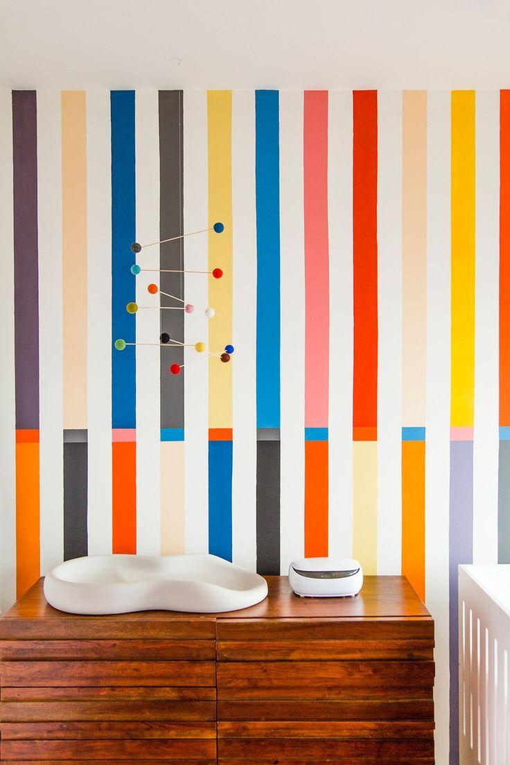 Elegant Wandgestaltung mit Streichen und Punkten Unglaublich toll und kreativ Wand tapezieren W nde streichen