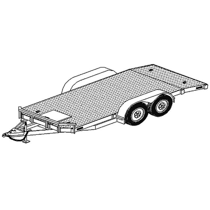 18' x 80″ Car Hauler Trailer Plans Blueprints – Model 1218-80