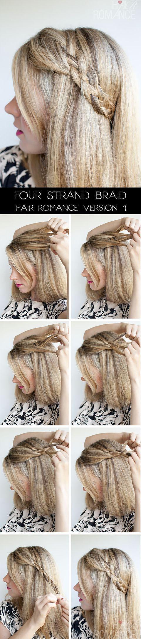 4 strand braids | Four Strand Braids Hairstyle Tutorial