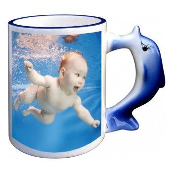 Mug enfant personnalisé avec photo - Dauphin poupepoupi.com