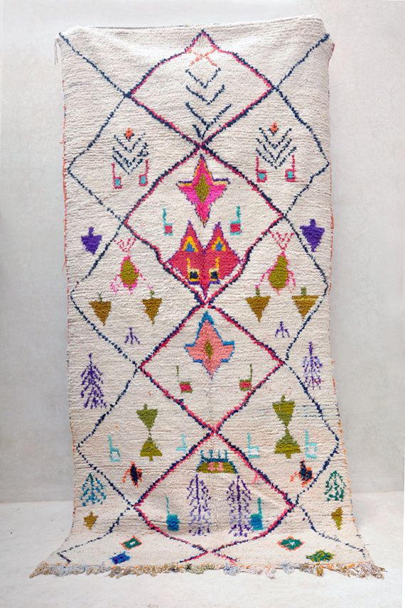 Vintage Moroccan rug from Pink Rug Co. https://www.etsy.com/listing/247286852/a-colorful-dialogue-crammed-with-4