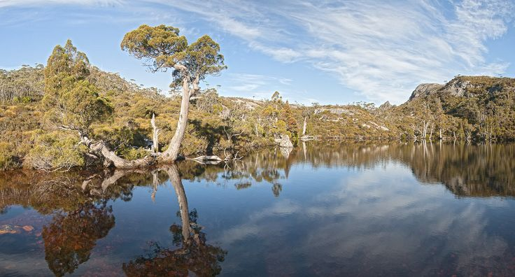Wombat pool looking great after a hike at Cradle Mountain