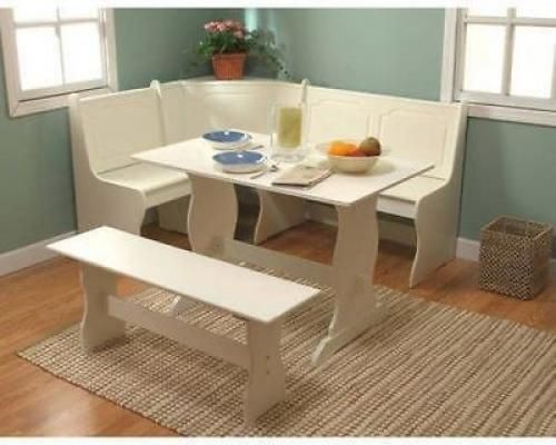 White Kitchen Table With Bench best 25+ corner dining set ideas on pinterest | nook dining set