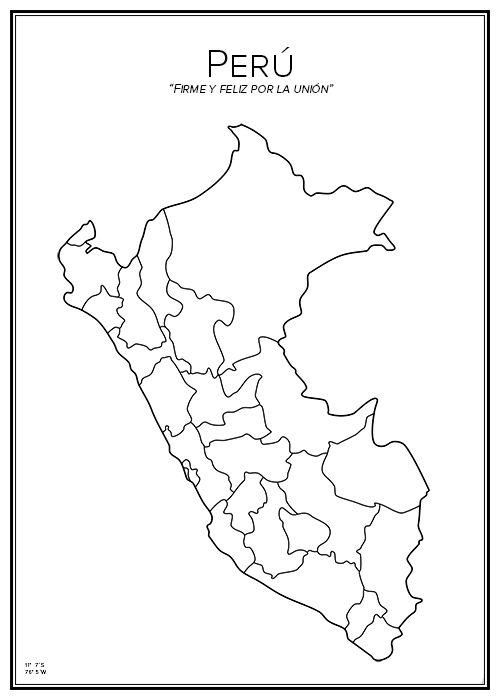 Peru. Latinamerika. Sydamerika. South America. Map. City print. Print. Affisch. Tavla. Tryck.
