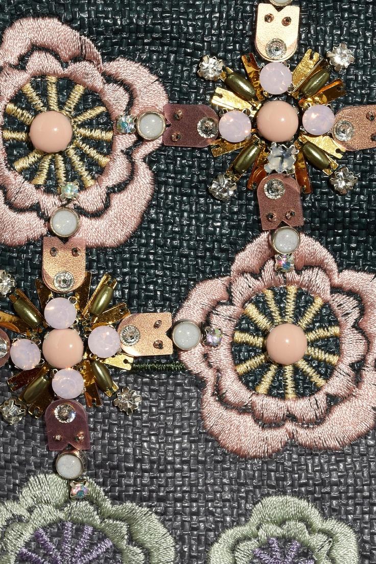 Biyan|Martijn embellished canvas pencil skirt|NET-A-PORTER.COM