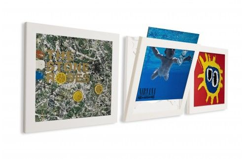 Art Vinyl - Play & Display Flip Frame (3er Set, weiss)