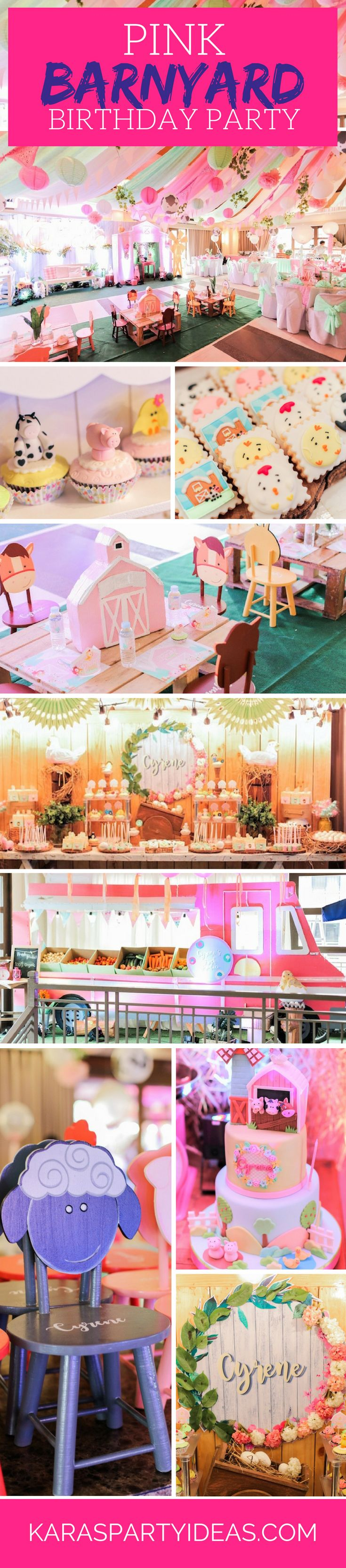 Kara s party ideas rustic country barn wedding party ideas supplies - Pink Barnyard Girl Farm Birthday Party Via Kara S Party Ideas
