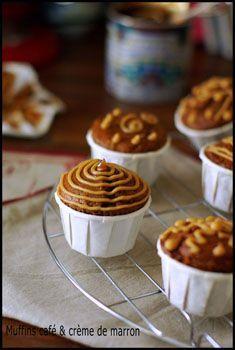 Muffins café, coeur de crème de marrons