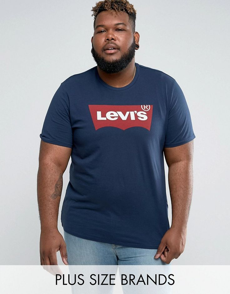 Get this Levis's printed t-shirt now! Click for more details. Worldwide shipping. Levi's PLUS Batwing T-Shirt Navy - Navy: T-shirt by Levi's PLUS, Soft-touch jersey, Crew neck, Short sleeves, Levi's logo print, Regular fit - true to size, Machine wash, 100% Cotton, Our model wears a size XXXL and is 188cm/6'2 tall. Famed for their 501 jeans, Levi's have been the garment of choice for cultural movements throughout the 20th century, with over 100 years experience in denim. Levi's pride…