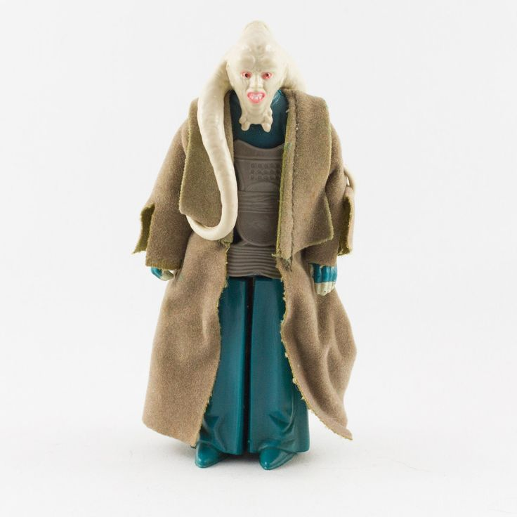Bib Fortuna, This vintage Kenner Star Wars Bib Fortuna action figure is in great  condition and is an excellent addition to any collection. The limbs are very firm, allowing a wide range of poses. The paint finishing is crisp and sharp with only a few hairline scratches along the fingertips. The chest plate is in perfect condition and there is a bit of fraying along the edges of the cape.