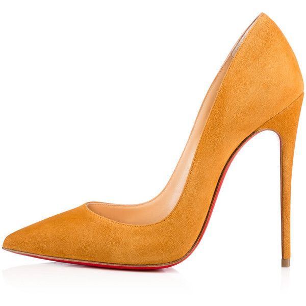 Women Shoes ($675) ❤ liked on Polyvore featuring shoes, pumps, heels, christian louboutin shoes, suede shoes, suede leather shoes, christian louboutin and heel pump