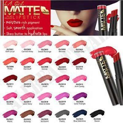 5. L.A Girl Matte Lipstick
