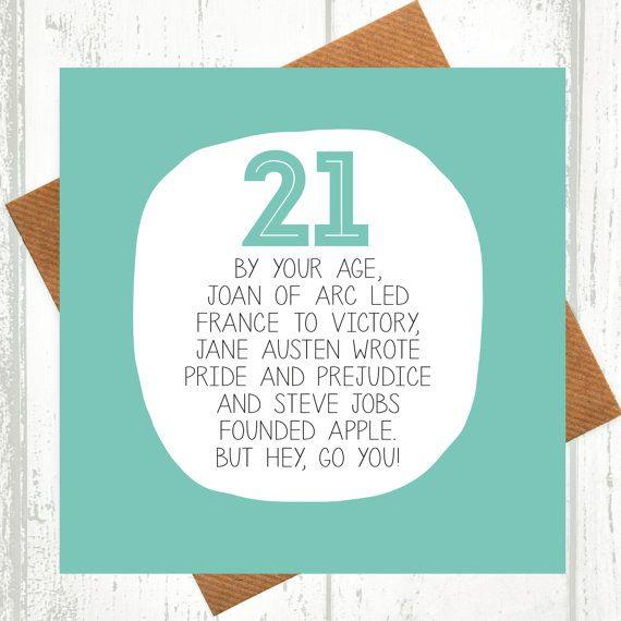 Best 25 21 birthday cards ideas – 21 Birthday Card