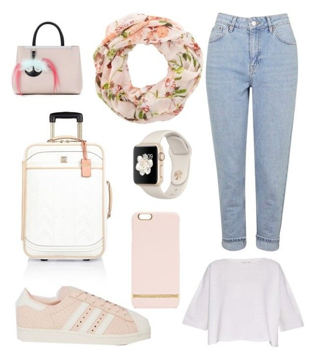 """""""Outfit viajero"""" by carolinagonzalez-v on Polyvore featuring moda, Helmut Lang, New Look, Topshop, adidas, Richmond & Finch, River Island y Fendi"""