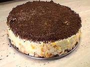 Rýchla trepaná torta - recept na piškótovú tortu s mandarinkami a čokoládou