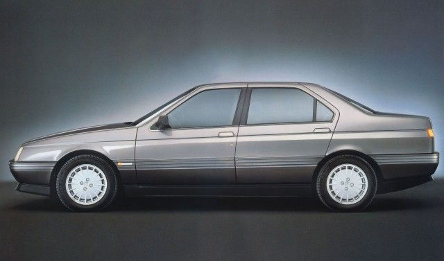 Alfa 164 (1991) – This is pretty much what you got when you asked Alfa Romeo for a 4 door sedan in the 90s: Bertone styling with a turbo-charged V6.