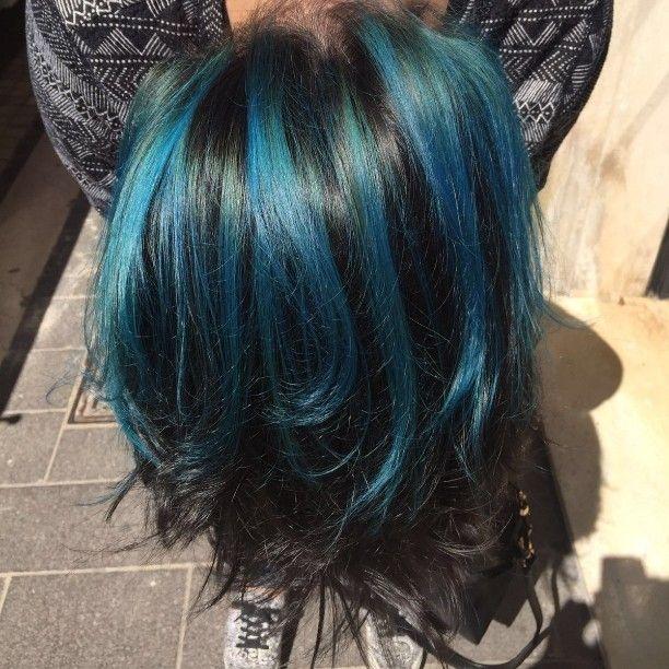 Blu sky!!!! I capelli del colore del cielo di oggi!!!stiamoavanti#hair#color#newlook#chieti#