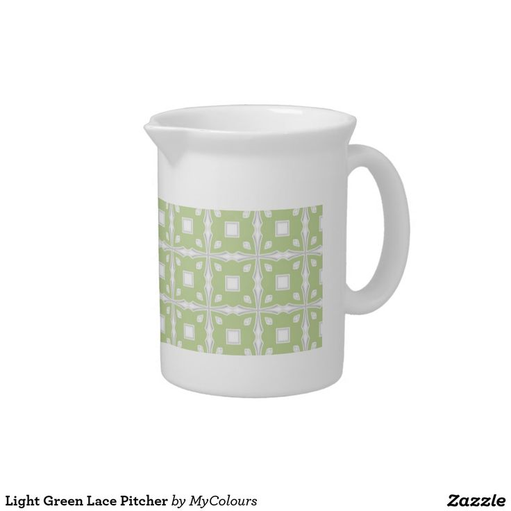 Light Green Lace Pitcher