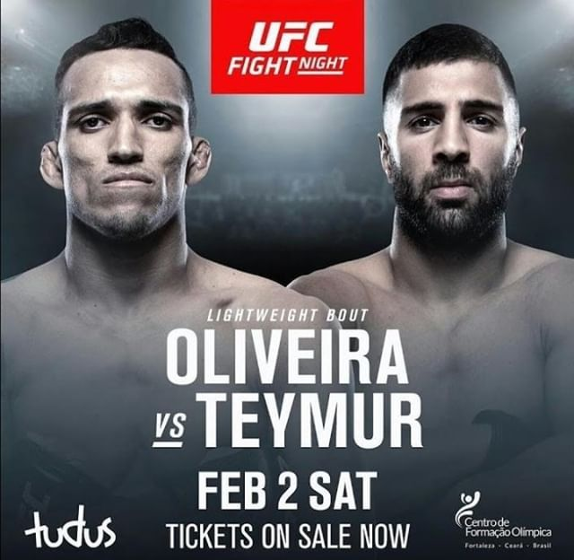Check Out Charles Oliveira Charlesdobronxs Vs David Teymur Davidteymur At Ufc On Espn 2 Oliveira Has Won His Last Three Fig Ufc Fight Night Ufc Espn