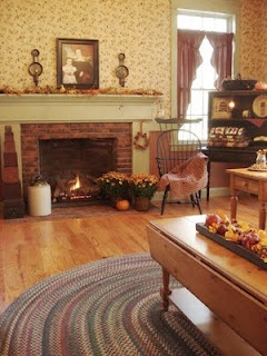 453 Best Primitive And Colonial Living Rooms Images On