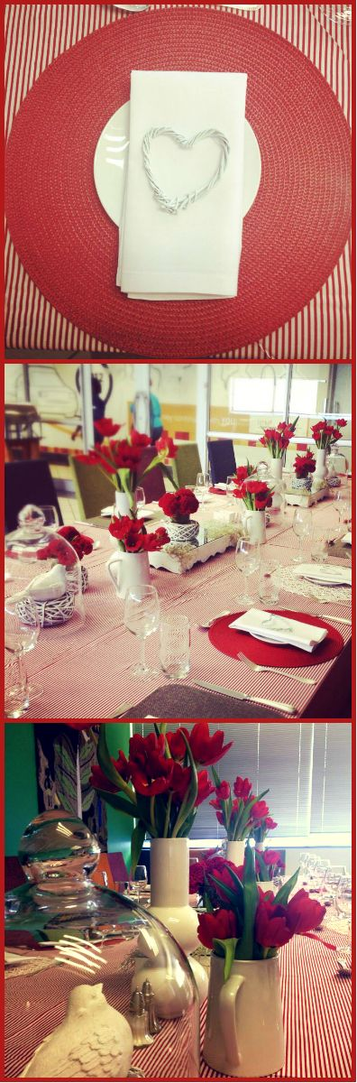 |Valentines Lunch| |Red and White| with touches of |Silver|