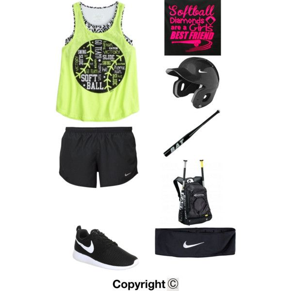 Softball Practice by amberpend on Polyvore featuring polyvore, fashion, style and NIKE