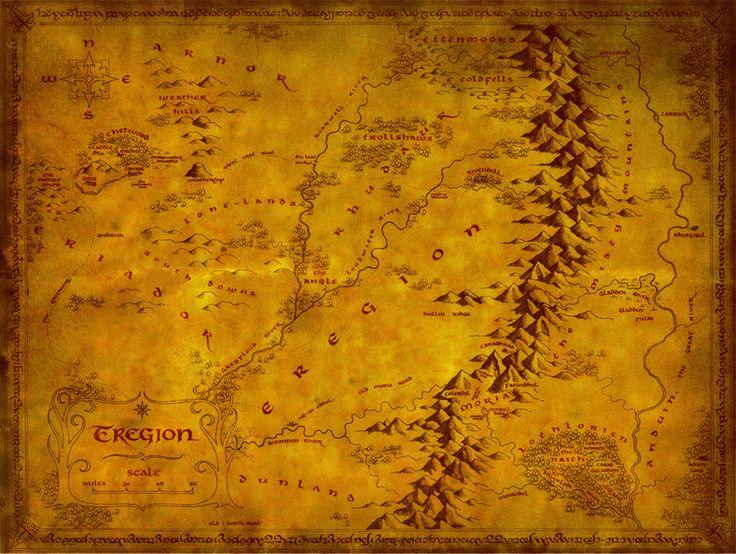 Mapa de Eregion: Nuevos lugares: Mirovell, gruta de Kalot, torre de la guardia de Ulrik, dedo de los Noldor, monasterio de la Realeza enana, puertas de los senescales de Moria, pantanos de el ángulo, ruinas de Ostendil, camino del sur.
