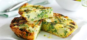 This potato and spring veg tortilla tastes just as good from the fridge as it does warm, so it's perfect as a take-to-work lunch.