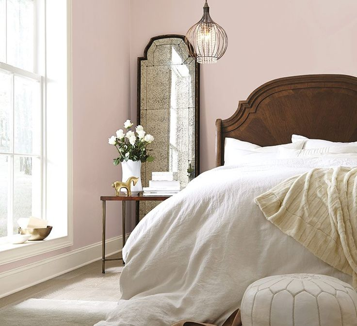 White Master Bedroom With Pops Of Color Colour Palettes