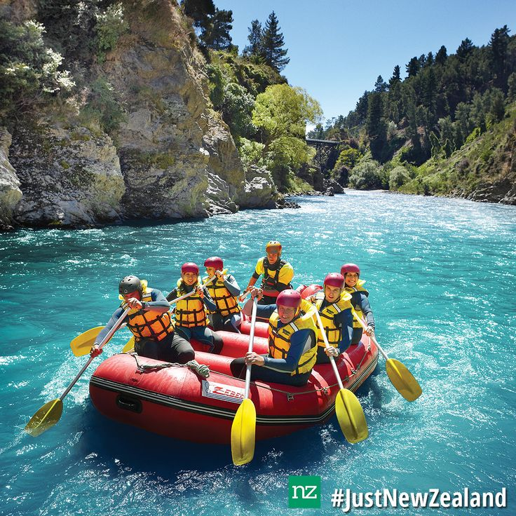 NZ Must Do - Rafting at Thrillseekers Adventures in Hanmer Springs #nz #mustdo #rafting #HanmerSprings #adventure #JustNewZealand