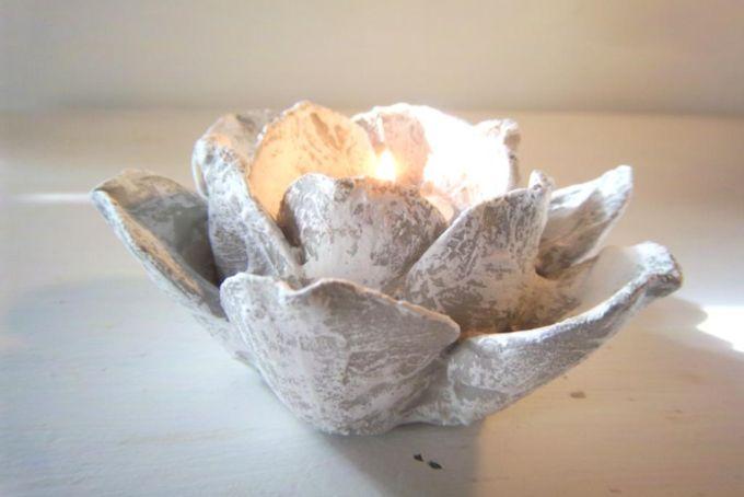 Heart & Spirit Flower Candle Holder by Amy Lauren Creations
