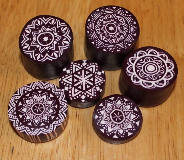 Polymer Clay Zentangle Mandalas