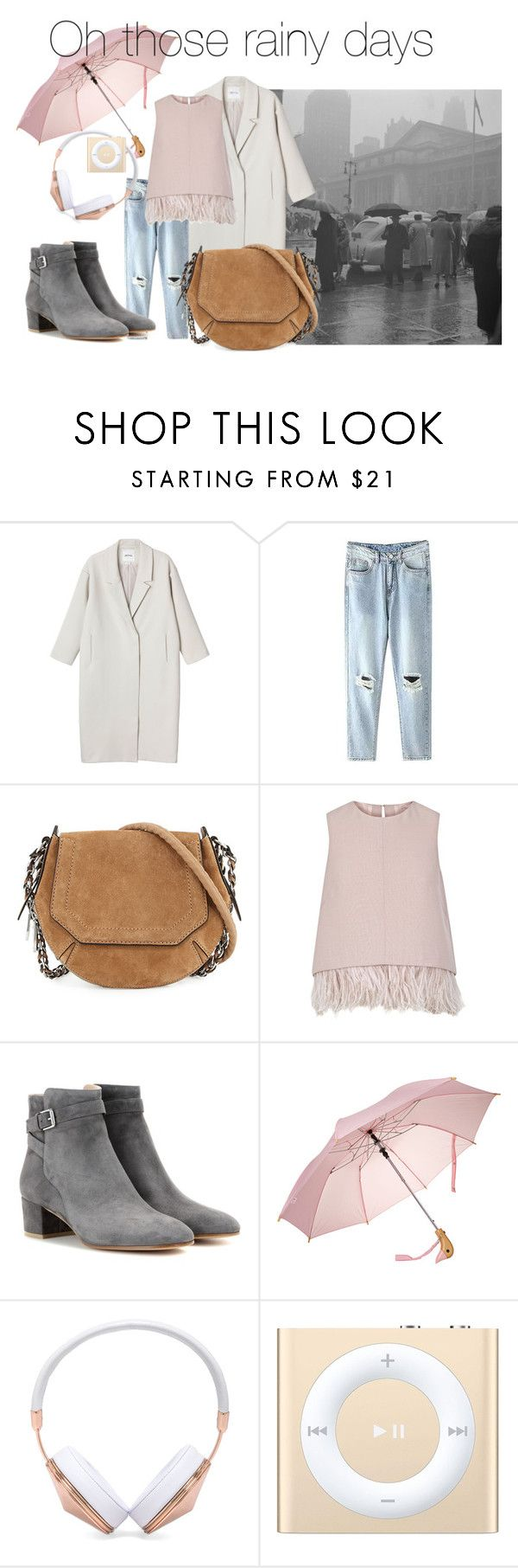 rainy12 by slounis on Polyvore featuring moda, The 2nd Skin Co., Monki, Gianvito Rossi, rag & bone, Frends, Apple, women's clothing, women's fashion and women