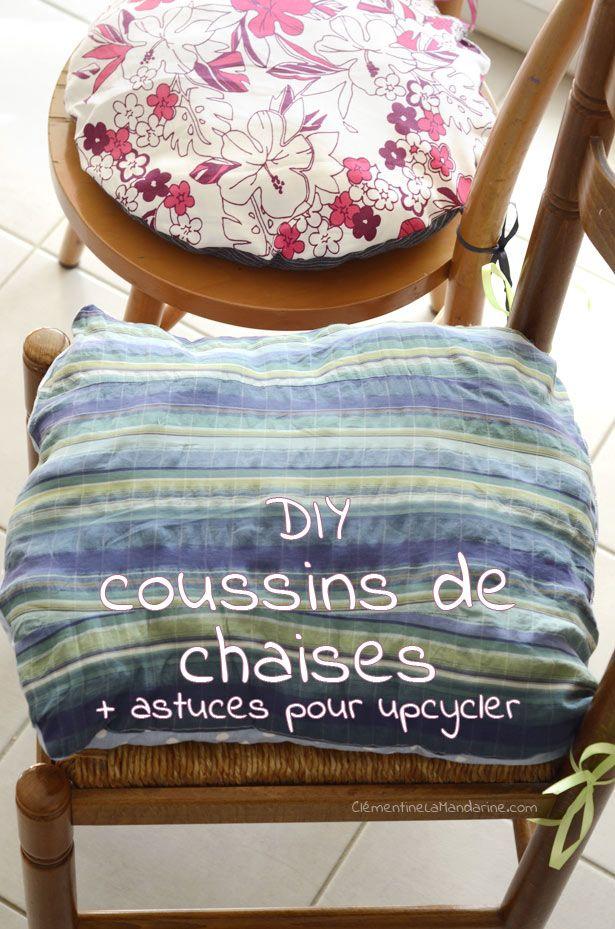 [DIY] Chaises relookées 1 : les coussins de chaise