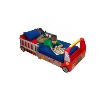 Pat pentru copii in forma de Camion de pompieri