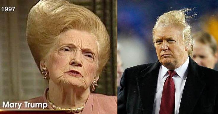"""LIKE MOTHER """"HAIR"""" LIKE SON """"HAIR"""" - MARY & DOANLD TRUMP"""