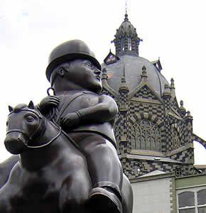 Esculptura de Botero en Medellin Colombia