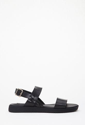 Colorblocked Faux Leather Flatform Sandals | FOREVER21 - 2000079570