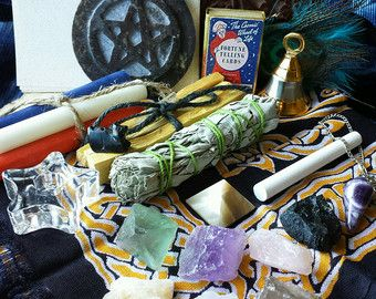 Wicca Starter Kit Witch Smudge Kit Magick Herb Set And Etsy