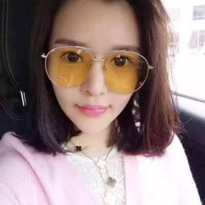 Cat Eye Shape Frame Decorated Simple Design Forever21 Yellow. Simple and must have it! REPIN if you love it.😍 Only 174.5 IDR