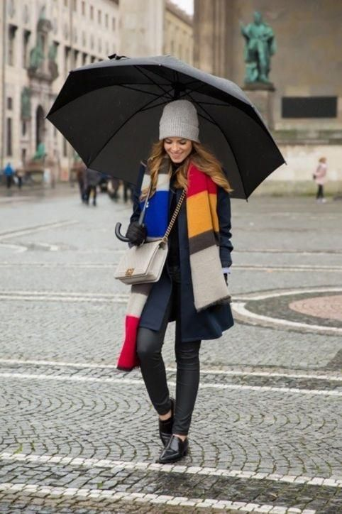Stylish and simple outfits you can wear to work even if the weather is rainy or gross.