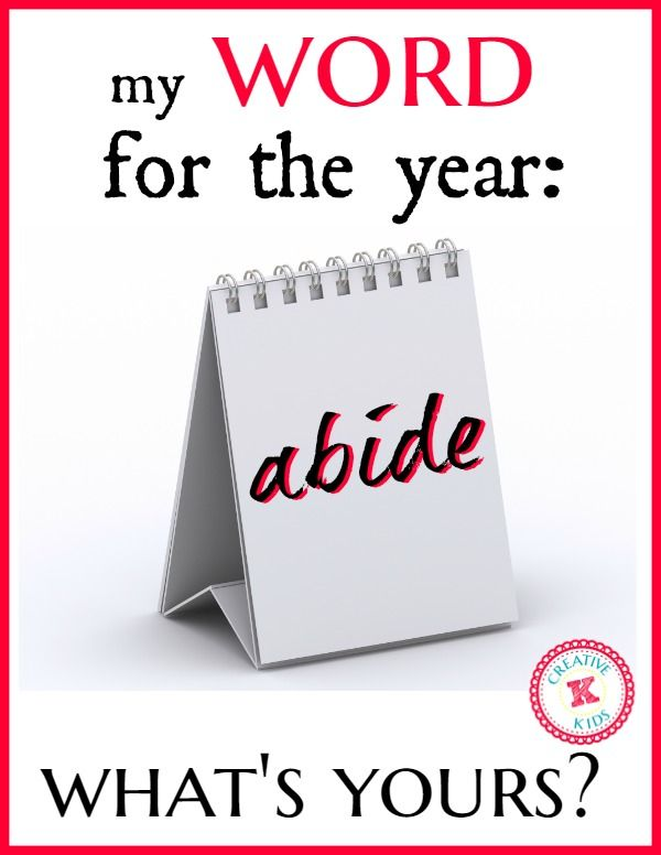 My word for 2015:  abide so  that you can have joy!