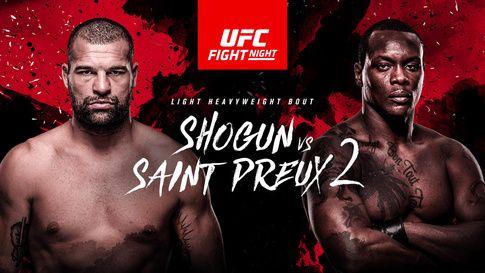 UFC Fight Night in Saitama, Japan, featuring the rematch between Mauricio Rua (AKA Shogun) and Ovince Saint Preux on BT Sports