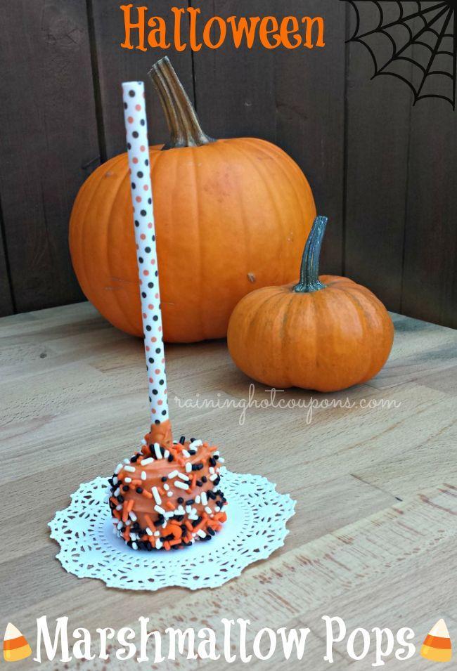 Marshmallow Halloween Pops