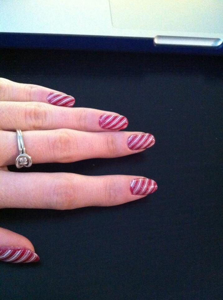 Candy cane nails by S.Doherty