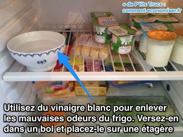 Utilisez du vinaigre blanc contre les mauvaises odeurs du frigo